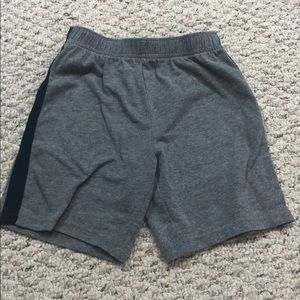 Grey and blue shorts